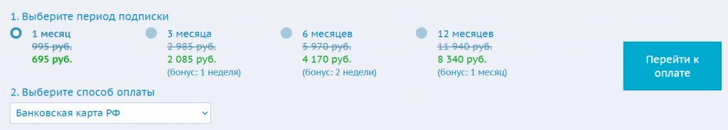 Стоимость услуг Bukvarix.